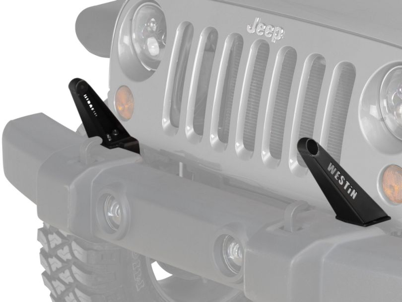 30 in. LED Light Bar Front Bumper Mount - Textured Black (07-18 Jeep Wrangler JK)