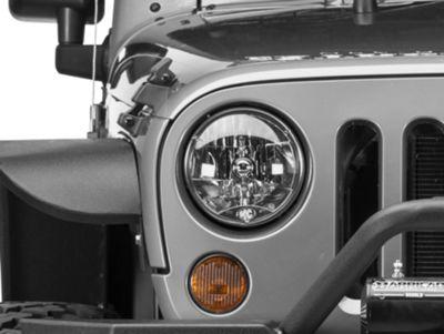 KC HiLiTES 7 in. H4 DOT Lexan 55/60-Watt Headlights - Pair (97-06 Jeep Wrangler TJ)