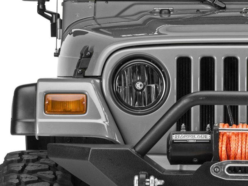 KC HiLiTES Gravity LED 7-Inch Headlights (97-06 Jeep Wrangler TJ)