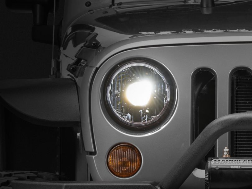 KC HiLiTES Gravity LED Pro 7-Inch Headlights (07-18 Jeep Wrangler JK)