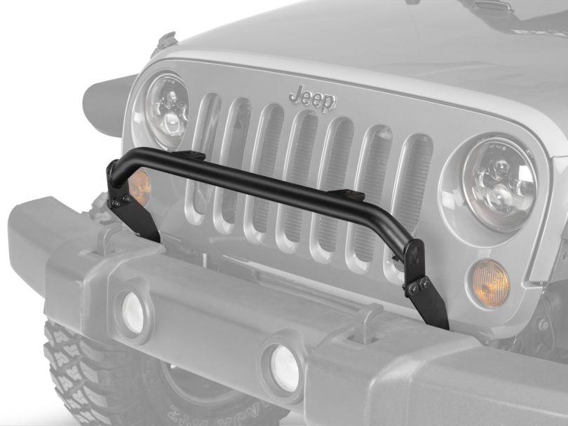 KC HiLiTES 2-Tab Bumper Mount Light Bar - Textured Black (07-18 Jeep Wrangler JK)