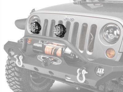 KC HiLiTES 4 in. Rally 400 Halogen Lights - Spread Beam - Pair (87-18 Jeep Wrangler YJ, TJ, JK & JL)
