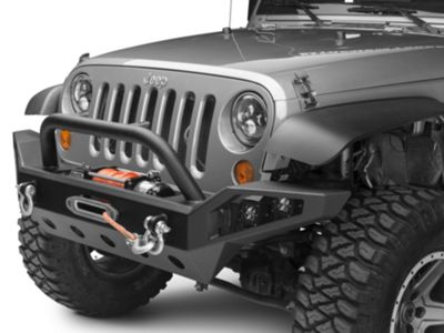 Barricade Trail Force HD Full Width Front Bumper w/ LED Lights (07-18 Jeep Wrangler JK)