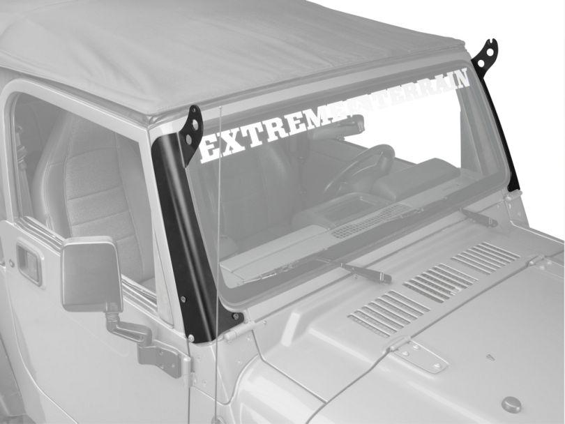 Hyline Offroad 50 in. LED Light Bar Mounting Brackets - Steel (97-06 Jeep Wrangler TJ)