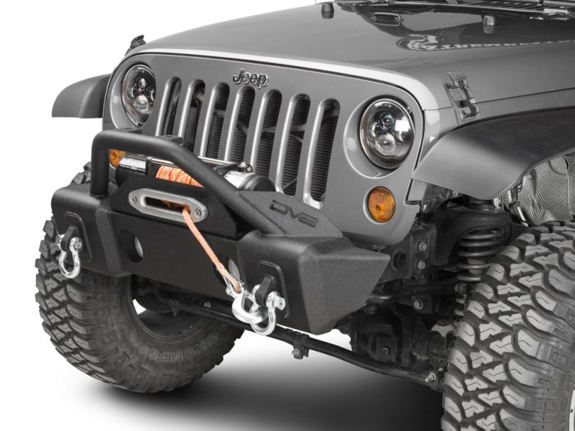 DV8 Offroad FS-13 Hammer Forged Stubby Front Bumper with Fog Light Provisions (07-18 Jeep Wrangler JK)