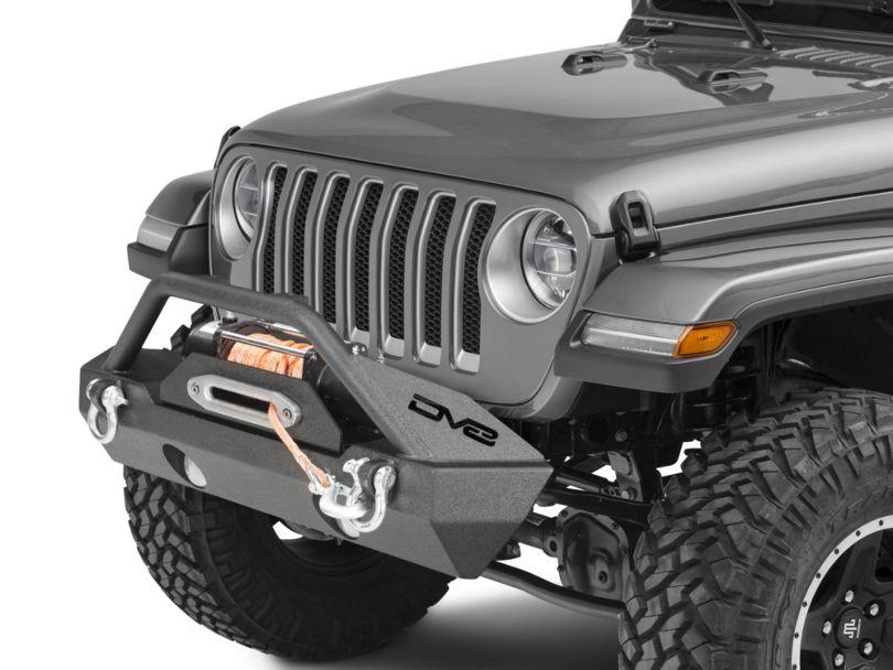 DV8 Off-Road FS-15 Hammer Forged Stubby Front Bumper w/ Fog Light Openings (18-20 Jeep Wrangler JL)