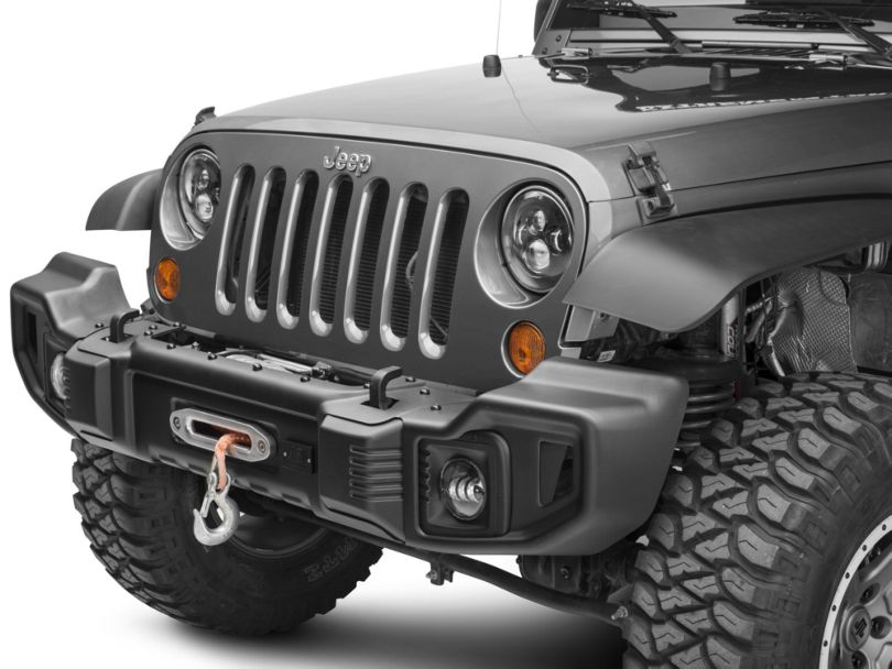 Rugged Ridge Spartacus Front Bumper with Winch Plate; Satin Black (07-18 Jeep Wrangler JK)
