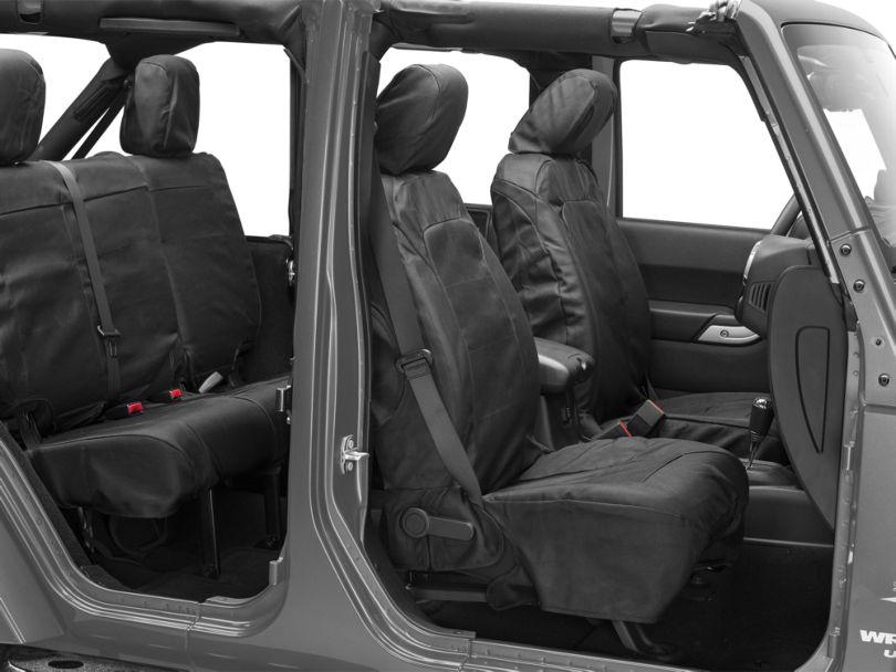 Rugged Ridge Elite Ballistic Seat Covers; Black (11-18 Jeep Wrangler JK)