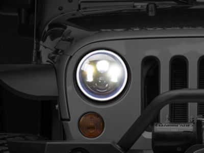 Add Oracle LED Waterproof Headlight Halo Kit - White (07-17 Wrangler JK)