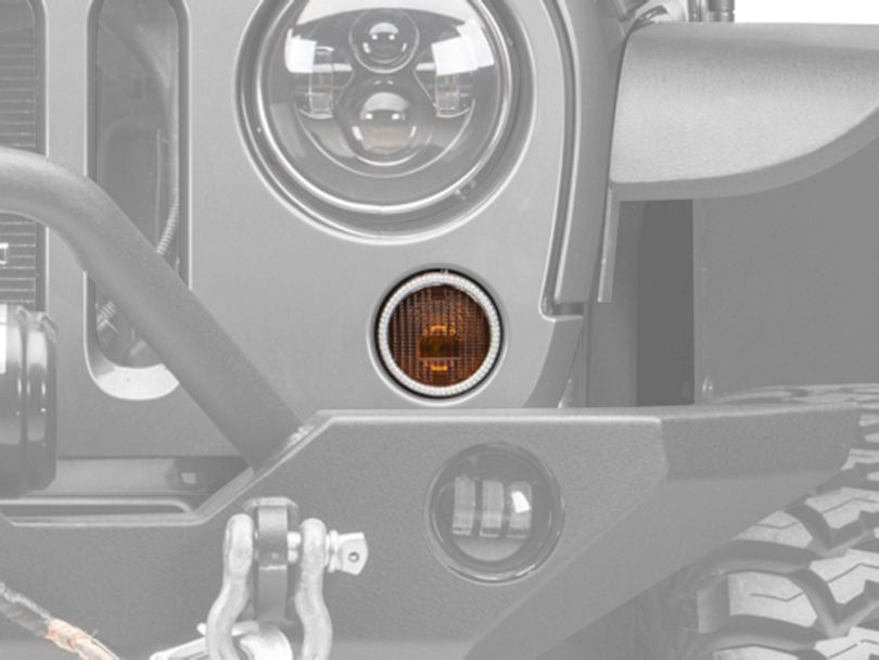 Oracle LED Waterproof Turn Signal Halo Conversion Kit - Amber (07-18 Jeep Wrangler JK)