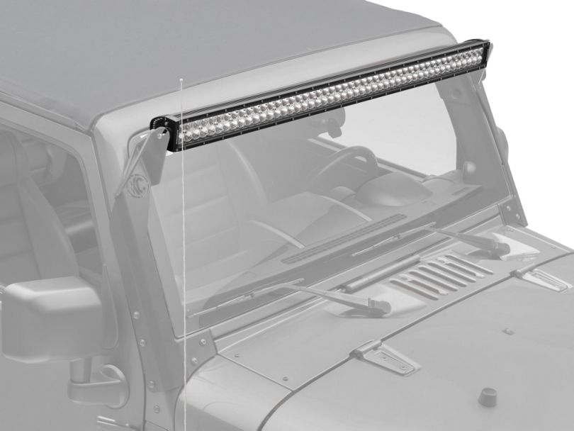 ZRoadz 50-Inch Double Row Straight LED Light Bar; Spot/Flood Combo Beam