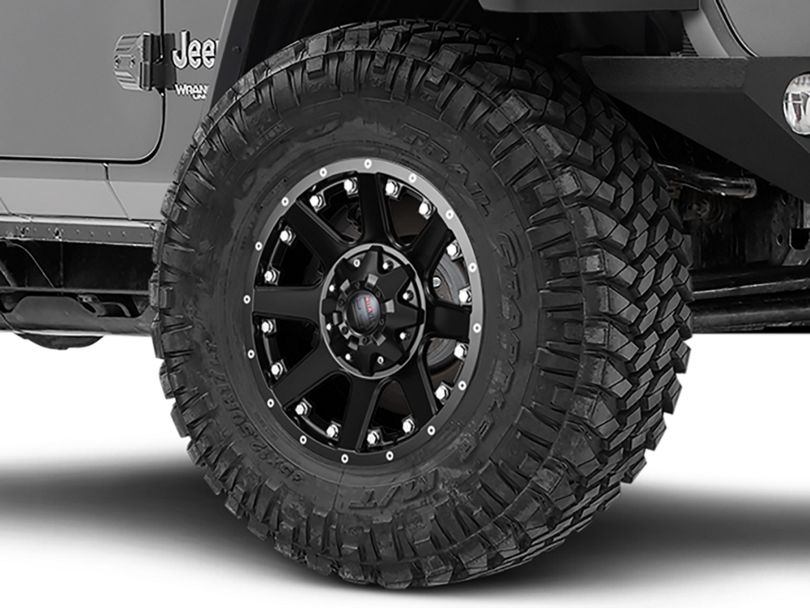 Havok Off-Road H-102 Matte Black Wheel - 17x9 (18-20 Jeep Wrangler JL)
