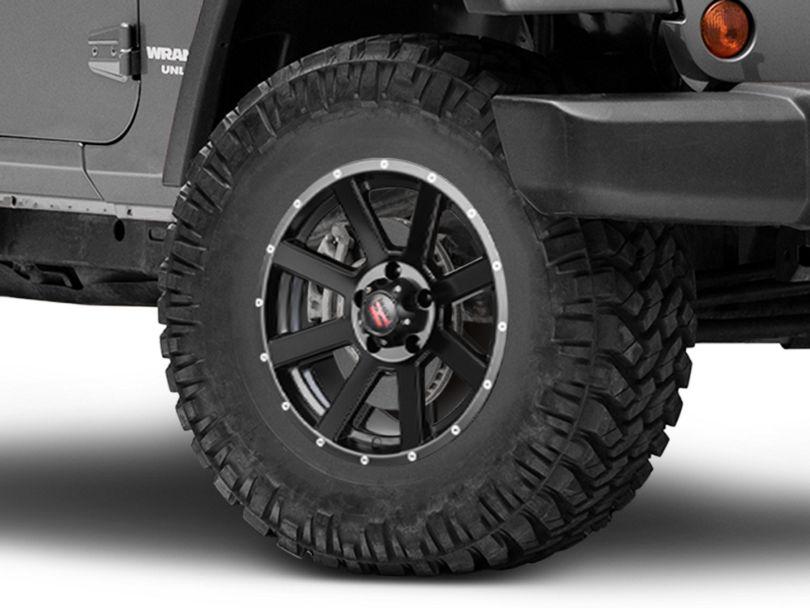 Havok Off-Road H-107 Matte Black Wheel; 17X9 (07-18 Jeep Wrangler JK)