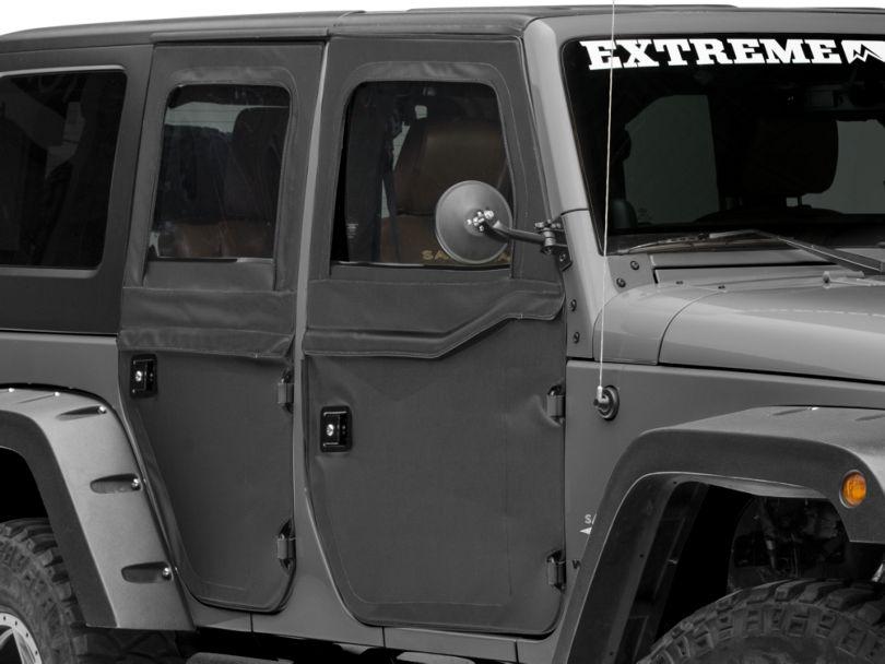 Bestop 2-Piece Full Fabric Doors - Black Diamond (07-18 Jeep Wrangler JK)