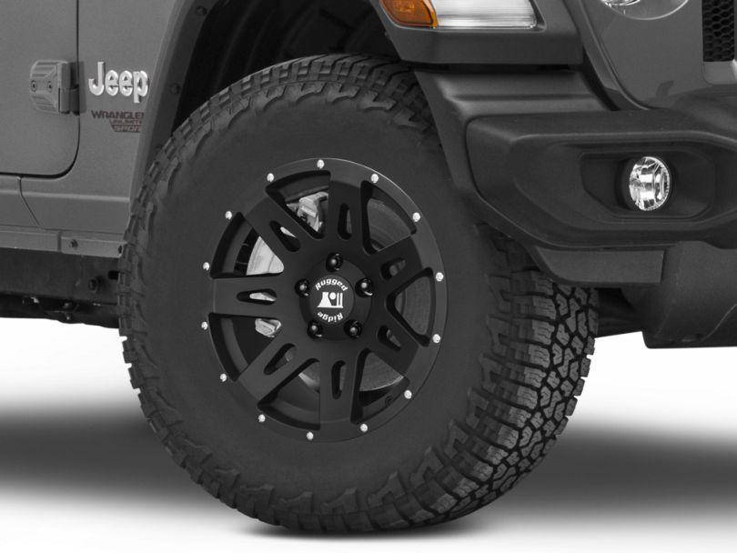 Rugged Ridge XHD Satin Black Wheel; 17x8.5 (18-20 Jeep Wrangler JL)