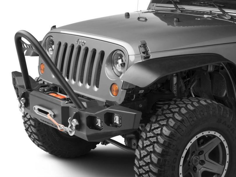 Marksman Front Bumper with Stinger (07-18 Jeep Wrangler JK)
