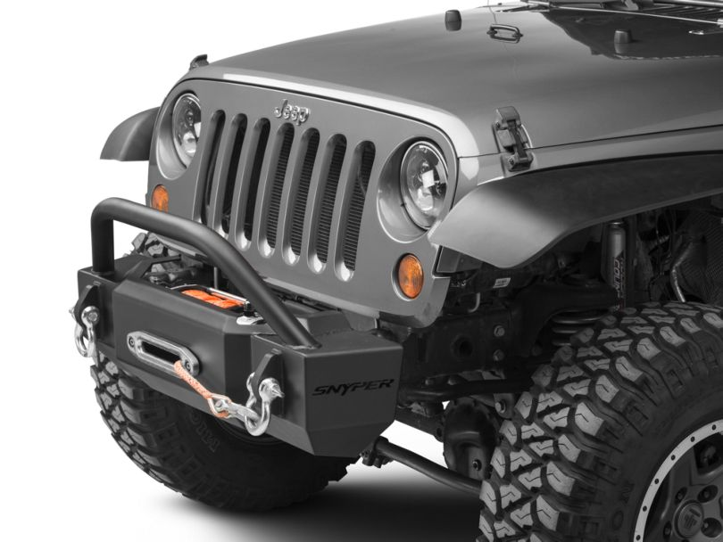 Scope Stubby Front Bumper with Bull Bar (07-18 Jeep Wrangler JK)