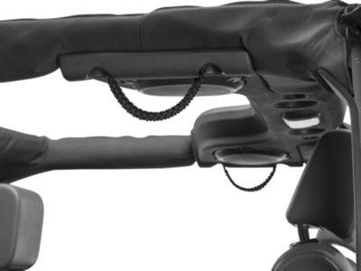 RedRock 4x4 Rear Soundbar Paracord Grab Handles - Black (07-18 Jeep Wrangler JK 4 Door; 2018 Jeep Wrangler JL 4 Door)