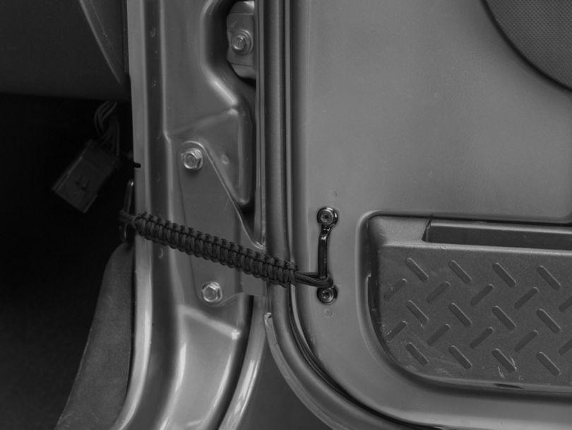 RedRock 4x4 Front Paracord Door Limit Straps - Black (07-18 Jeep Wrangler JK)