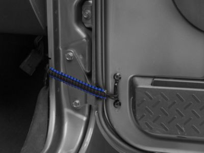 RedRock 4x4 Front Paracord Door Limit Straps - Black and Blue (07-18 Jeep Wrangler JK)