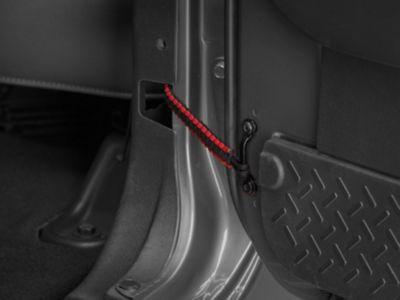 RedRock 4x4 Rear Paracord Door Limit Straps - Black and Red (07-18 Jeep Wrangler JK 4 Door)