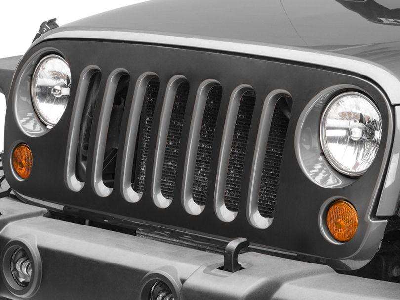 SEC10 Grille Decal; Matte Black (07-18 Jeep Wrangler JK)