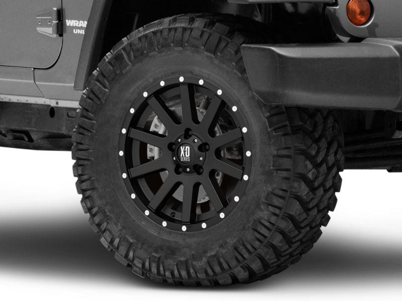 XD Heist Satin Black Wheel; 17x9 (07-18 Jeep Wrangler JK)