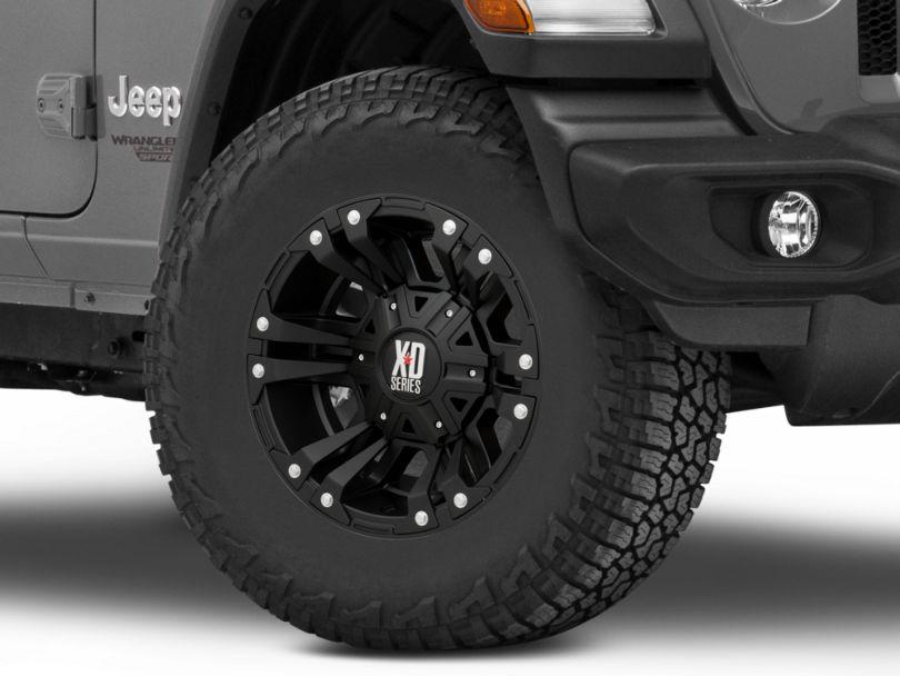 XD Monster II Matte Black Wheel; 17x9 (18-20 Jeep Wrangler JL)