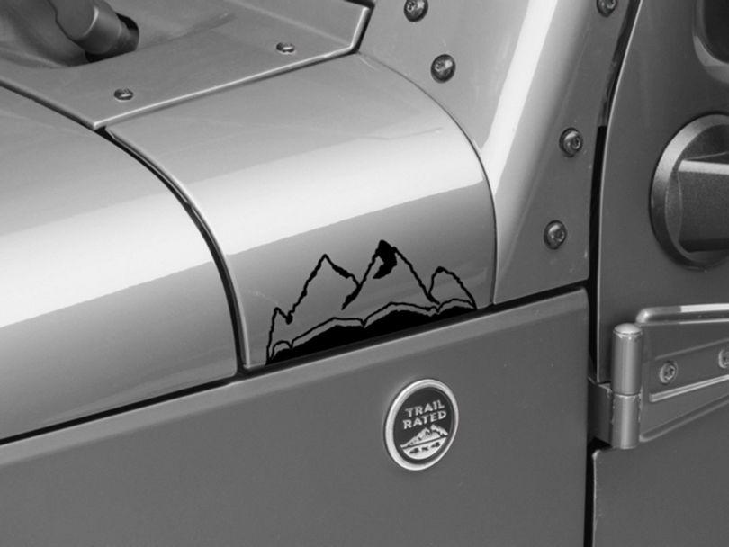 Small Mountain Graphic - Black (87-20 Jeep Wrangler YJ, TJ, JK & JL)