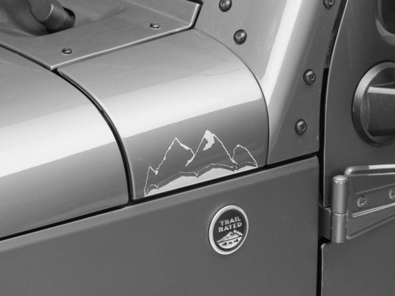 Small Mountain Graphic - Silver (87-20 Jeep Wrangler YJ, TJ, JK & JL)
