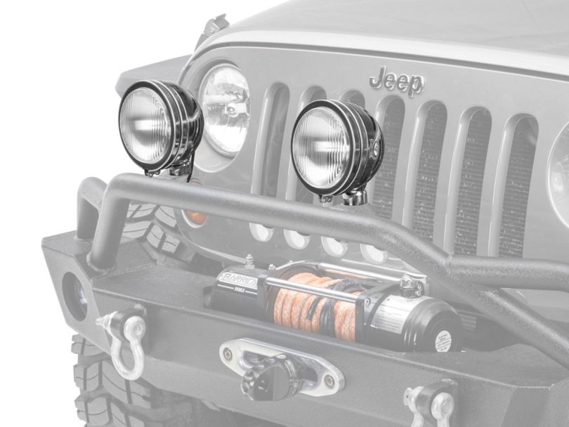 Rugged Ridge 6-Inch Round HID Off-Road Fog Lights with Stainless Steel Housings; Set of Two