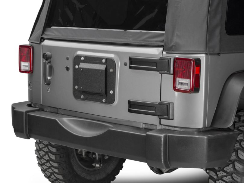 Barricade Spare Tire Delete w/ License Plate Mount (07-18 Jeep Wrangler JK)