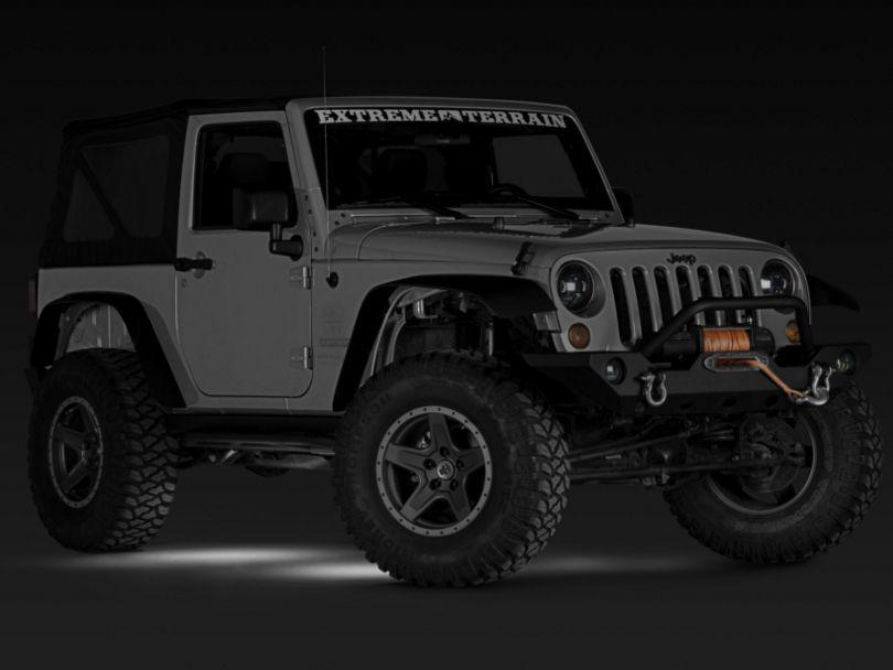 Rugged Ridge Rock Crawler LED Rock Light Kit with Wiring Harness; White (07-18 Jeep Wrangler JK)