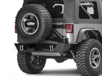 Poison Spyder RockBrawler II Rear Bumper w/ Tire Carrier - SpyderShell Armor Coat (07-18 Jeep Wrangler JK)