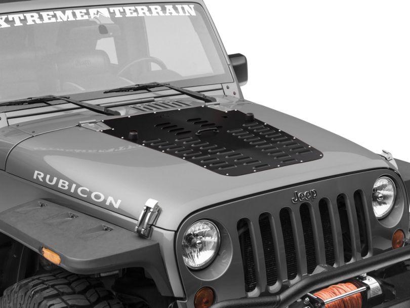 Poison Spyder Hood Louver; Black (13-18 Jeep Wrangler JK)