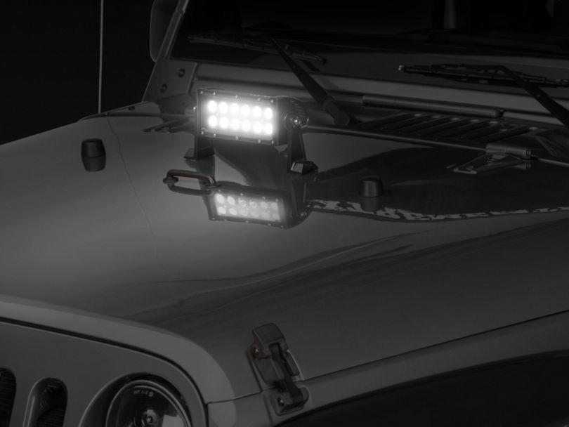 Raxiom 7.5 Inch Dual Row LED Light Bar; Flood/Spot Combo
