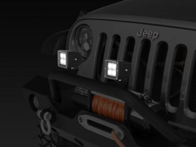 Raxiom 3 in. Square 4-LED Off Road Light - Flood Beam