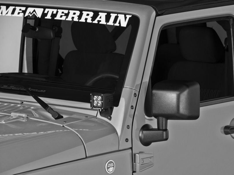 Raxiom Windshield Mounted Light Brackets (07-18 Jeep Wrangler JK)