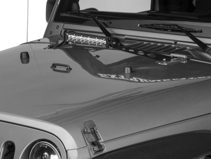Raxiom 14 in. Light Bar Hood Mounting Brackets (07-18 Jeep Wrangler JK)