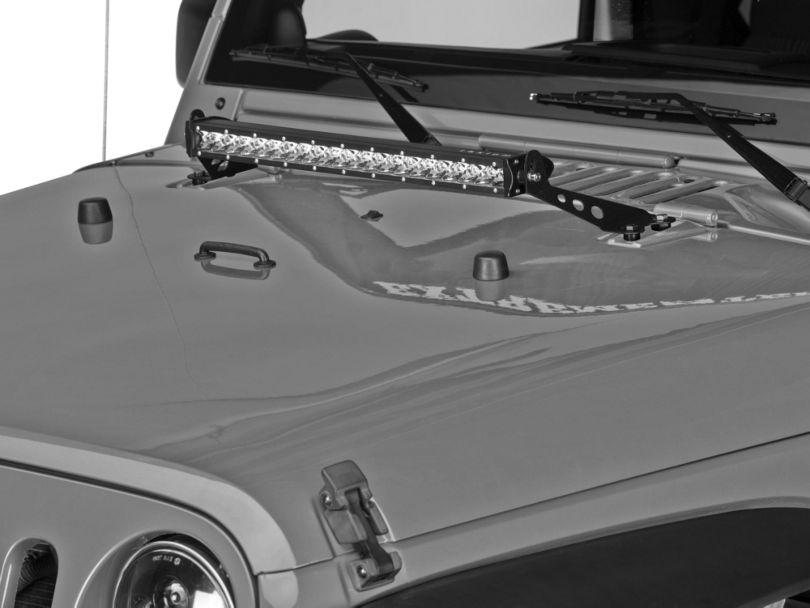 Raxiom 24 in. Light Bar Hood Mounting Brackets (07-18 Jeep Wrangler JK)