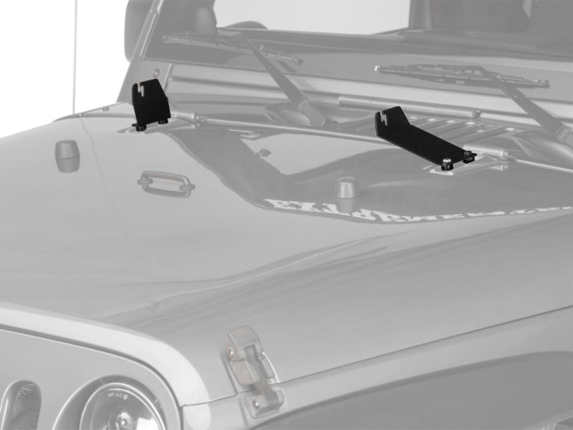 Raxiom 20 in. Light Bar Hood Mounting Brackets (07-18 Jeep Wrangler JK)