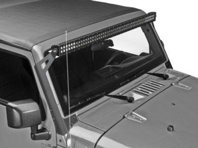 Putco wrangler 50 in luminix led light bar 10050 free shipping led light bar windshield mount 07 17 wrangler jk aloadofball Gallery
