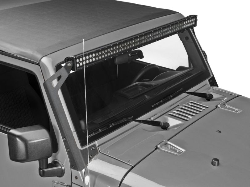 Raxiom 50 in. LED Light Bar Windshield Mount (07-18 Jeep Wrangler JK)