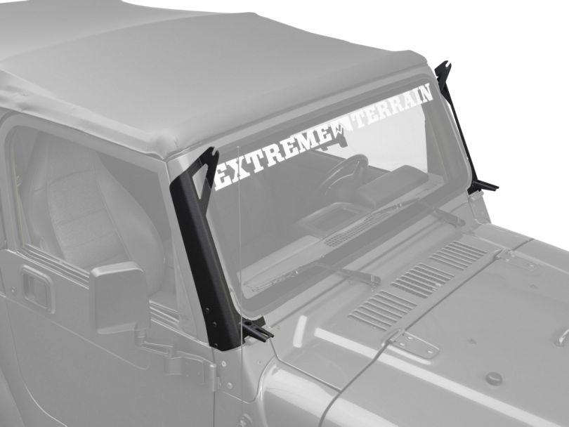 Raxiom 50 in. LED Light Bar Windshield Mount w/ Auxilliary Bracket (97-06 Jeep Wrangler TJ)