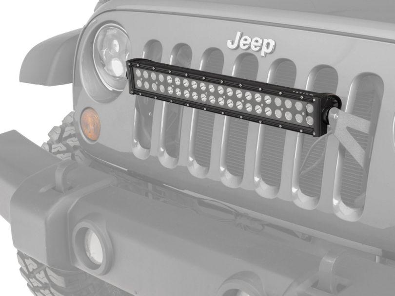 Raxiom Grille Mounted 20 in. LED Light Bar (07-20 Jeep Wrangler JK & JL)