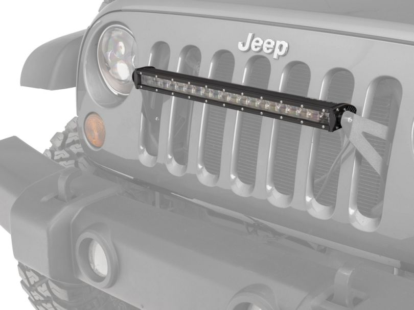 Raxiom Grille Mounted 20 in. LED Slim Light Bar (07-20 Jeep Wrangler JK & JL)