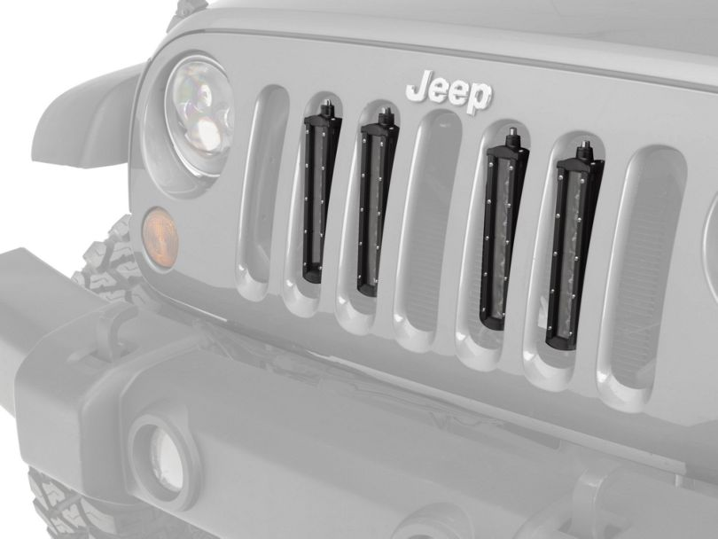 Raxiom Flush Mount Quad LED Grille Lights (07-20 Jeep Wrangler JK & JL)