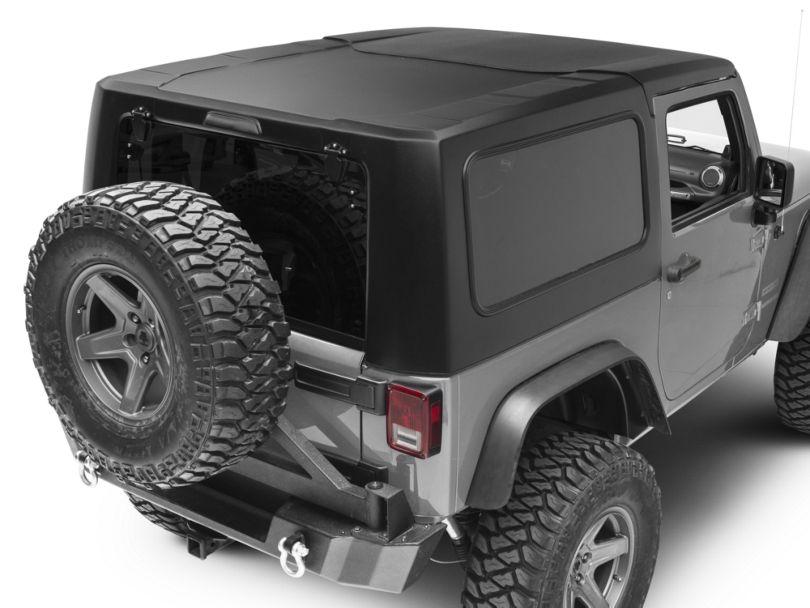Smittybilt 2-Piece Hard Top - Textured Black (07-18 Jeep Wrangler JK 2 Door)