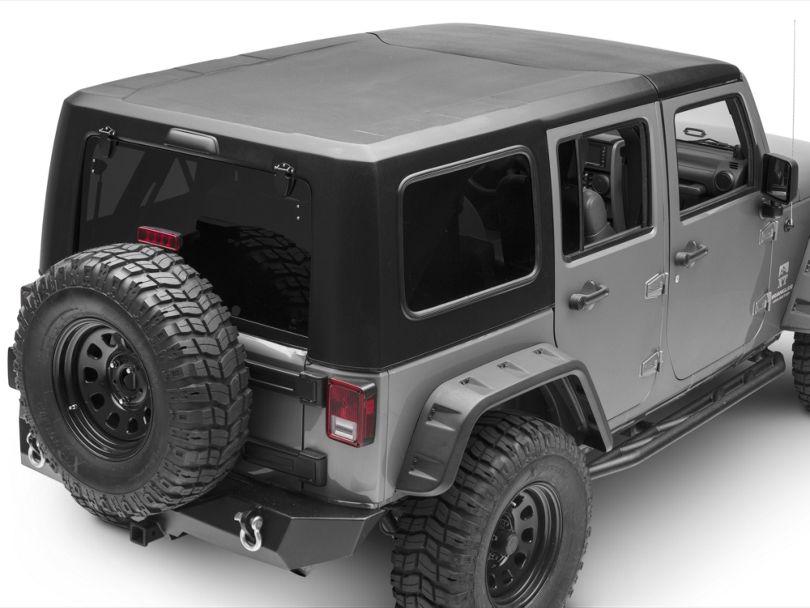 Smittybilt 2-Piece Hard Top - Textured Black (07-18 Jeep Wrangler JK 4 Door)