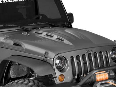 DV8 Off-Road Heat Dispersion Vented Hood - Unpainted (07-18 Jeep Wrangler JK)